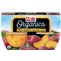Dole Fruit Bowls, Organics Diced Peaches, 4 Cups