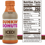 Dunkin' Donuts Iced Coffee, Original 13.7 fl - Water Butlers