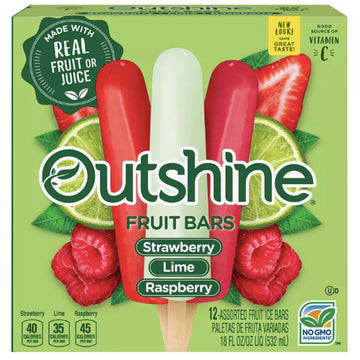 Outshine Strawberry, Lime & Wildberry Frozen Fruit Bars - 12 Ct