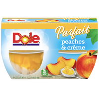 Dole Fruit Bowls, Parfait Peaches & Creme, 4 Cups - Water Butlers