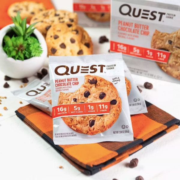 Quest Protein Cookie, Peanut Butter Chocolate Chip, 4 Ct - Water Butlers