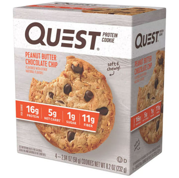 Quest Protein Cookie, Peanut Butter Chocolate Chip, 4 Ct