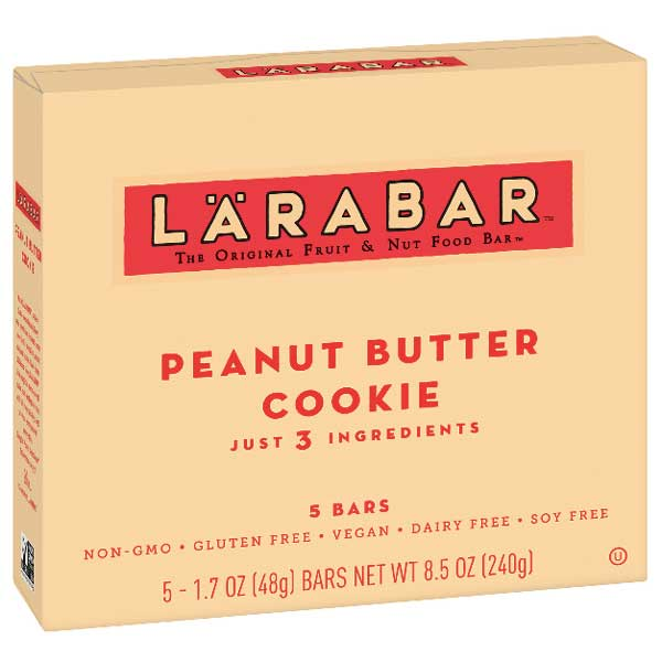 Larabar Gluten Free Bar, Peanut Butter Cookie, 5 Ct - Water Butlers