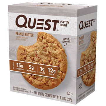 Quest Protein Cookie, Peanut Butter, 4 Ct