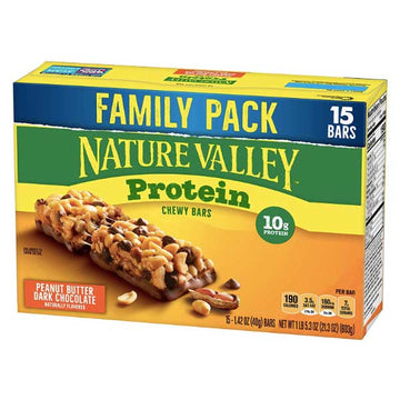 Nature Valley Protein Bars, Peanut Butter Dark Chocolate, 15 Ct