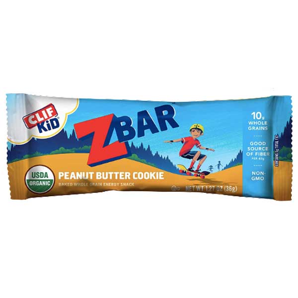 CLIF Kid ZBAR, Organic Granola Bars, Peanut Butter Cookie, 18 Ct - Water Butlers