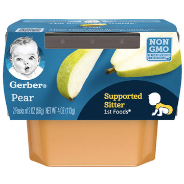 Gerber 1st Foods Baby Food Pear, 2oz, 2 Count
