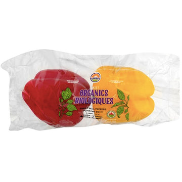 Sunset Organic Sweet Bell Peppers, 2 Ct
