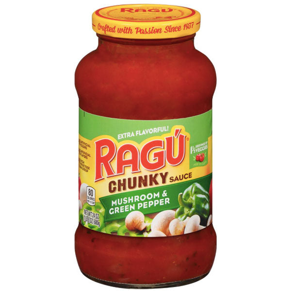 Ragú Mushroom & Green Pepper Pasta Sauce, 24 oz. - Water Butlers