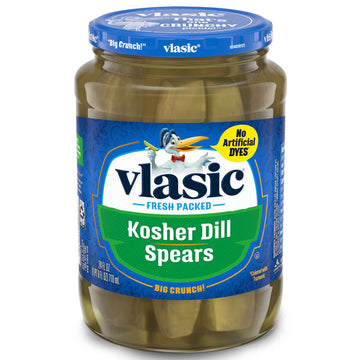 Vlasic Kosher Dill Pickles, Dill Pickle Spears, 24 oz