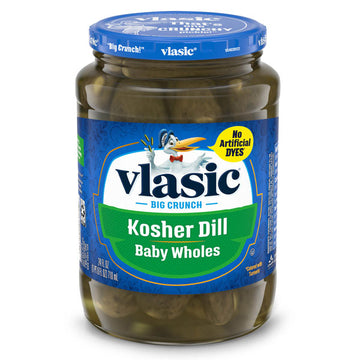 Vlasic Kosher Dill Pickles, Dill Baby Whole Pickles, 24 oz