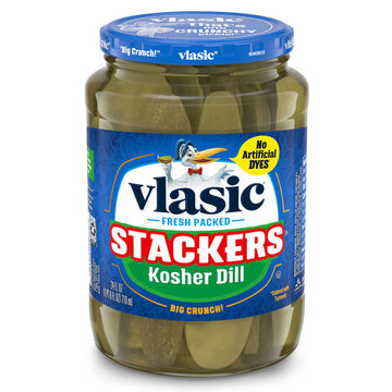 Vlasic Dill Pickle Sandwich Stackers, Kosher Dill Pickles, 24 oz