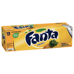 Fanta Cans Pineapple 12fl oz, 12 Ct - Water Butlers