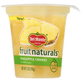 Del Monte Fruit Naturals, Pineapple Chunks, 6.5 oz Cup