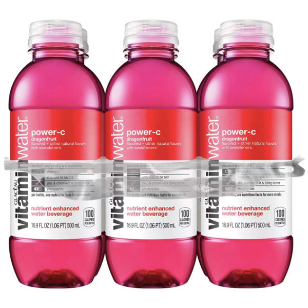 Vitaminwater Power-C, Dragonfruit, 16.9 fl oz, 6 Ct - Water Butlers