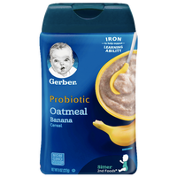 Gerber Single Baby Cereal, Probiotic Oatmeal Banana - 8oz - Water Butlers