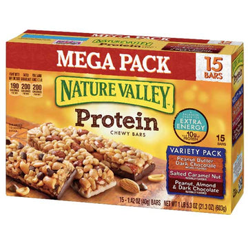 Nature Valley Protein Bars, Variety Mega Pack, 15 Ct