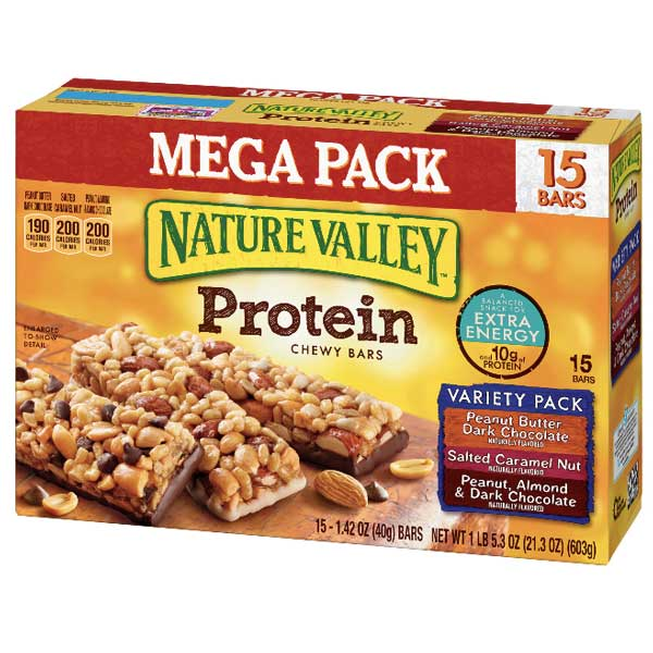 Nature Valley Protein Bars, Variety Mega Pack, 15 Ct - Water Butlers