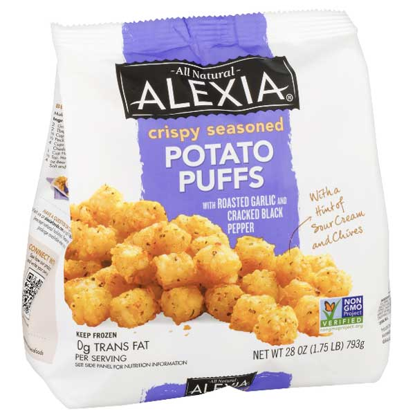 Alexia Crispy Seasoned Potato Puffs, 28 oz - Water Butlers