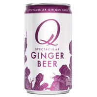 Q Drinks Ginger Beer, 7.5 fl oz Cans, 4 Ct - Water Butlers