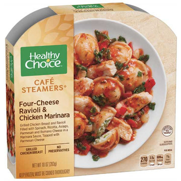 Healthy Choice Four Cheese Ravioli & Chicken Marinara, 10 oz