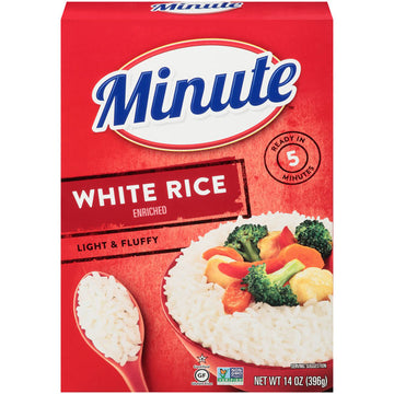 Minute White Rice, Instant White Rice, Light & Fluffy Quick Rice, 14 oz