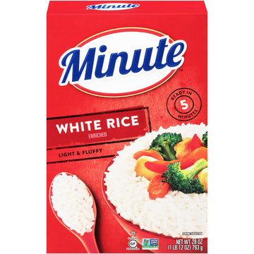 Minute White Rice, Instant White Rice, Light & Fluffy Quick Rice, 28 oz