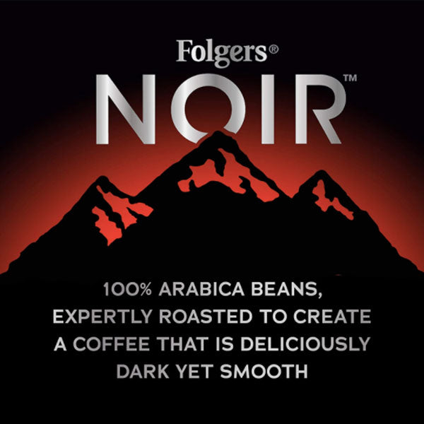 Folgers Noir Rich Satin Medium Dark Roast Coffee, 10.3 oz - Water Butlers