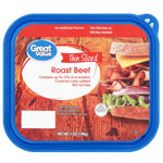 Great Value Thin Sliced Roast Beef, 7 oz - Water Butlers