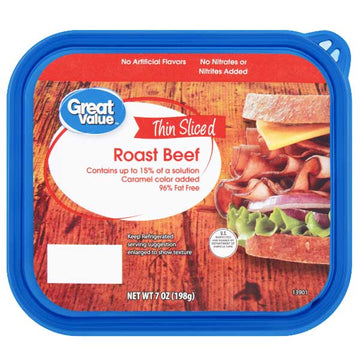 Great Value Thin Sliced Roast Beef, 7 oz