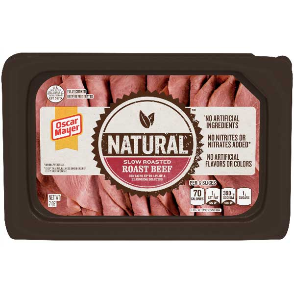 Oscar Mayer Natural Slow Roasted Beef, 7 oz - Water Butlers