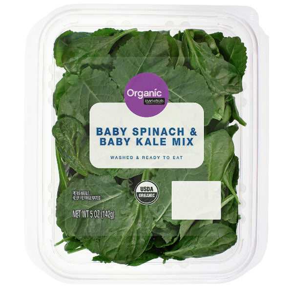 Marketside Organic Baby Spinach & Baby Kale Mix, 5 oz - Water Butlers