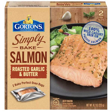 Gorton's Simply Bake Roasted Garlic & Butter Salmon, 8.2 oz