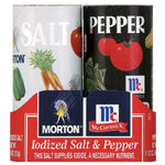 Morton Iodized Salt & Pepper Shakers, 5.25oz - Water Butlers