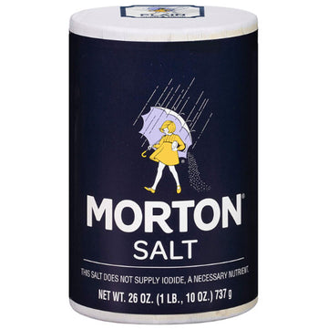 Morton Table Salt, Plain, 26 oz