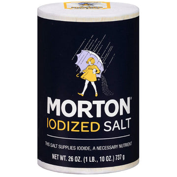 Morton Iodized Table Salt, 26 oz
