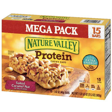 Nature Valley Protein Salted Caramel Nut Bars, 15 Ct