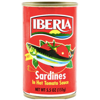 Iberia Sardines in Hot Tomato Sauce, 5.5 oz - Water Butlers