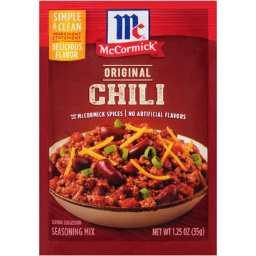 McCormick Classic Chili Seasoning Mix Packet, 1.25 oz