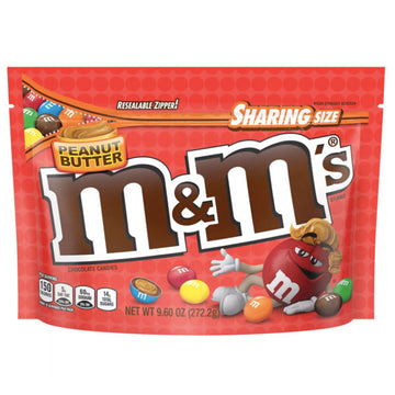 M&Ms Sharing Size, Peanut Butter - 9.6oz