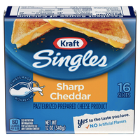 Kraft Singles Sharp Cheddar Cheese Slices, 16 Ct - Water Butlers