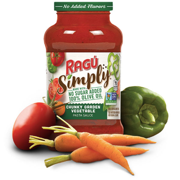 Ragú Simply Chunky Garden Vegetable Pasta Sauce, 24 oz. - Water Butlers