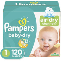 Pampers Baby Dry Jumbo Pack, Size 1 (120 Count) - Water Butlers