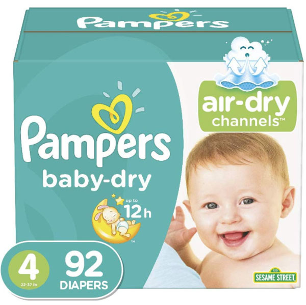 Pampers Baby Dry Jumbo Pack, Size 4 (92 Count) - Water Butlers