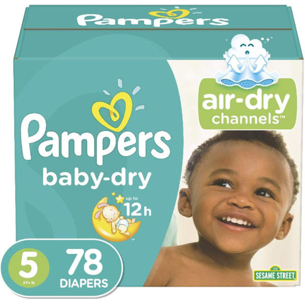 Pampers Baby Dry Jumbo Pack, Size 5 (78 Count) - Water Butlers
