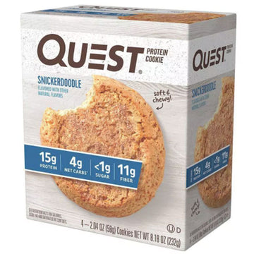 Quest Protein Cookie, Snickerdoodle, 4 Ct