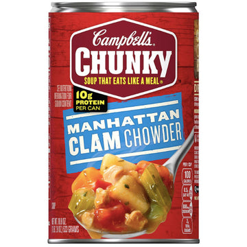 Campbell's Chunky Soup, Manhattan Clam Chowder, 18.8 oz