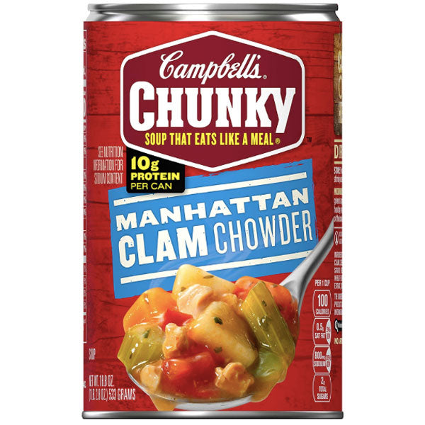 Campbell's Chunky Soup, Manhattan Clam Chowder, 18.8 oz - Water Butlers