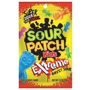 Sour Patch Kids Candy, Extreme Flavor, 7.2 oz.