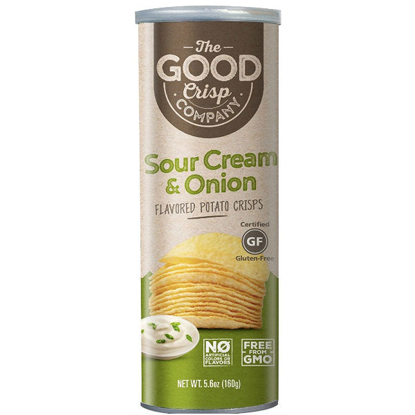 The Good Crisp Potato chips, Sour Cream & Onion, 5 oz - Water Butlers